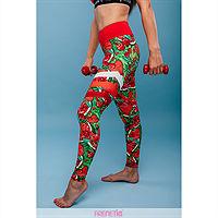 Frenetic Colanti fitness cu talia inalta, culori exotice,nuante de rosu, REDFRUITS-23