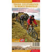 Harta Schubert &Franzke Trasee cicloturistice in muntii Banatului