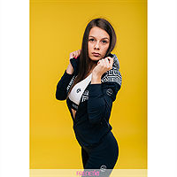 Frenetic Bluza fitness cu fermoar, alb, negru, Gwenda-01