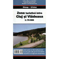 Harta Dimap Zonei Turistice Intre Cluj si Vladeasa