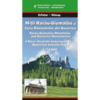 Harta Dimap Muntii Rarau-Giumalau si Zona Manastirilor din Bucovina