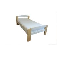 Pat dormitor Serena multicolor, lemn brad, 1 persoana ,90x200 cm