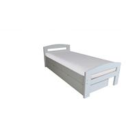 Pat dormitor Serena, cu lada de depozitare, 100x200 cm, alb mat