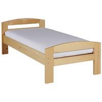 Pat dormitor Serena, lemn brad, 1 persoana ,90x200 cm lac natur