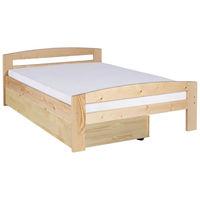 Pat dormitor Serena lac natur, cu lada de depozitare, 2 persoane ,140x200 cm