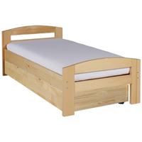 Pat dormitor Serena, cu lada de depozitare, 100x200 cm, culoarea lemnului