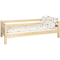 Pat canapea Luis din lemn ,1 persoana, Lacuit Natur ,90x200 cm