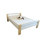 Pat dormitor Serena multicolor, lemn brad, 2 persoane ,140x200 cm