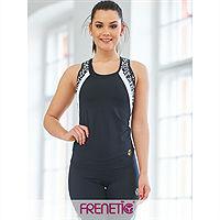 Maieu fitness Frenetic, culoare, alb, negru material reciclat, OCEAN4-01/00