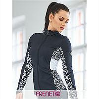 Frenetic Bluza functionala cu fermoar, material reciclat, negru cu alb OCEAN5-01/00