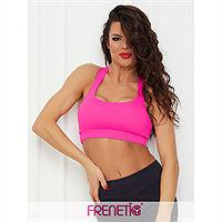 Frenetic, Bustiera fitness cu push up fixat, bretele incrucisate, Halina-21
