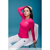 Frenetic Bluza fitness, basic, roz intens cu maneca lunga, HIP-21
