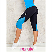 Frenetic Colanti fitness, treisferturi, negru cu tull albastru deschis, Orsy-01/48