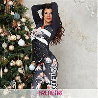 Frenetic Bluza fitness, negru, festiv, CHRISTMAS-01