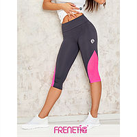Frenetic Colanti fitness, treisferturi, gri inchis cu tull roz intens, Orsy-03/20